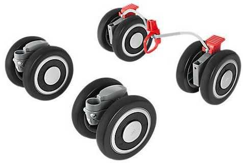 Комплект колес для коляски Maclaren Techno XT 2016-2017 Front Rear Wheels PM1Y280092(PM1Y280092)