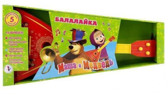БАЛАЛАЙКА ИГРАЕМ ВМЕСТЕ МАША И МЕДВЕДЬ 5 ФУНКЦИЙ B-78 В РУСС. КОР. в кор.2*20шт играем вместе балалайка маша и медведь играем вместе