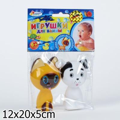 Купить Резиновая игрушка для ванны ИГРАЕМ ВМЕСТЕ Котёнок Гав и щенок, в ассортименте, Игрушки для купания
