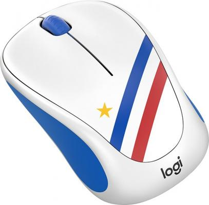 Мышь беспроводная Logitech Wireless Mouse M238 Fan Collection FRANCE 910-005404 рисунок USB