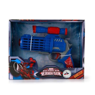 Бластер Играем вместе ЧЕЛОВЕК ПАУК синий красный B1211025-R играем вместе космический бластер великий человек паук web head