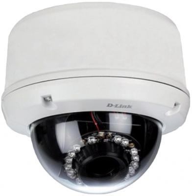 Видеокамера IP D-Link DCS-6510/EP Внешняя купольная антивандальная сетевая VGA-камера, день/ночь, с ИК-подсветкой до 20 м, PoE и слотом для карты SD интернет камера d link dcs 6517 a1a 5 мп внешняя купольная антивандальная сетевая камера день ночь с ик подсветкой до 20 м poe вариофокальным мото