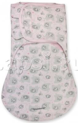 Конверт для пеленания на липучке двумя способами размер S/M Summer Infant Wrap Sack (серый/звезды)