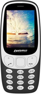 Мобильный телефон Digma N331 2G черный мобильный телефон рация защищенный texet tm 515r