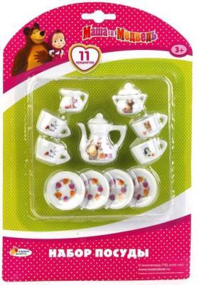 Набор посуды Играем вместе Маша и медведь набор посуды играем вместе маша и медведь металлическая