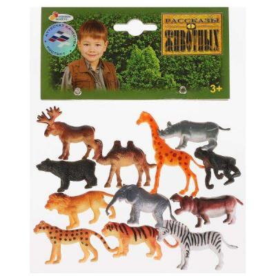 Купить Набор фигурок ИГРАЕМ ВМЕСТЕ Набор из 12 диких животных 5 см, Детские фигурки