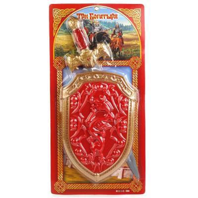 Набор оружия Играем вместе ТРИ БОГАТЫРЯ красный золотистый B1483024-R цена