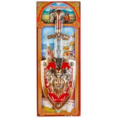 Набор оружия Наша Игрушка ТРИ БОГАТЫРЯ серебристый красный золотистый B1503940-R цена