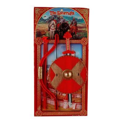 Набор оружия Играем вместе ТРИ БОГАТЫРЯ красный B1337635-R играем вместе набор оружия три богатыря 2 предмета