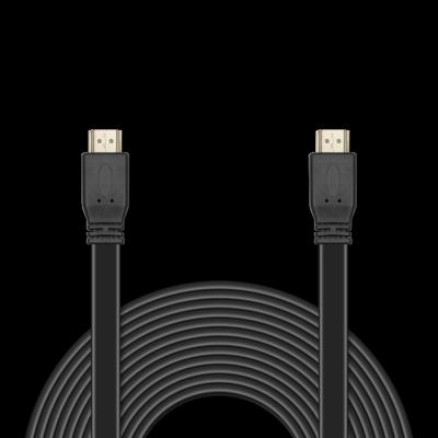 Фото - Кабель HDMI 10м Jet.A JA-HD10 плоский черный аксессуар mobiledata hdmi 4k v 2 0 плоский 1 8m hdmi 2 0 fn 1 8