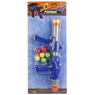 Купить Ружье Играем вместе РУЖЬЕ С ШАРИКАМИ синий серебристый B1493578-R, синий, серебристый, 4x55x23 см, для мальчика, Игрушечное оружие