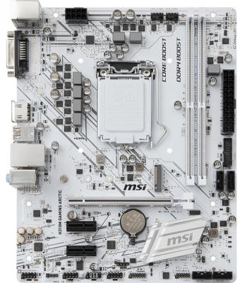 Материнская плата MSI H310M GAMING ARCTIC Socket 1151 v2 H310 2xDDR4 1xPCI-E 16x 2xPCI-E 1x 4 mATX Retail msi h310m gaming arctic