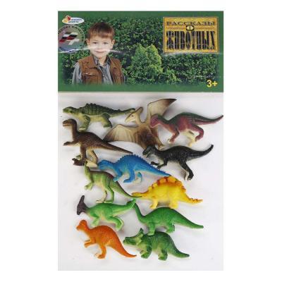 Набор фигурок ИГРАЕМ ВМЕСТЕ Набор из 12-и динозавров 6 см цена