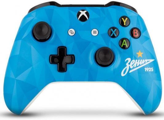 Геймпад Беспроводной Microsoft ФК Зенит Северное Сияние голубой для: Xbox One (TF5-00004-ZSP)
