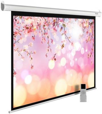 лучшая цена Экран Cactus 220x220см MotoExpert CS-PSME-220x220-WT 1:1 настенно-потолочный рулонный белый (моторизованный привод)
