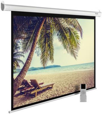 лучшая цена Экран Cactus 360x360см MotoExpert CS-PSME-360x360-WT 1:1 настенно-потолочный рулонный белый (моторизованный привод)