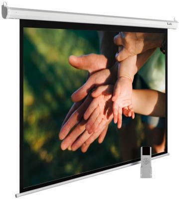 Экран Cactus 280x280см MotoExpert CS-PSME-280x280-WT 1:1 настенно-потолочный рулонный белый (моторизованный привод) цена и фото