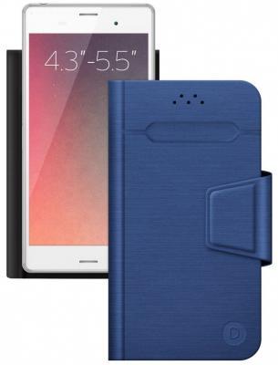 все цены на Чехол Deppa -подставка для смартфонов Wallet Fold M 4.3''-5.5'', синий