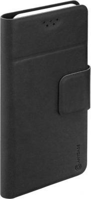 Чехол Anycase (флип-кейс) DEPPA Anycase Wallet, для универсальный 5.5-6.5, черный amalthea genuine leather wallet female