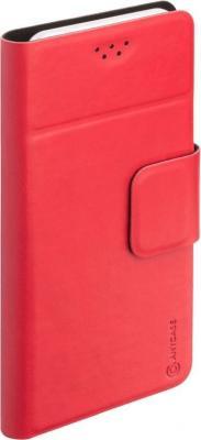 Чехол Anycase (флип-кейс) DEPPA Anycase Wallet, для универсальный 5.5-6.5, красный amalthea genuine leather wallet female