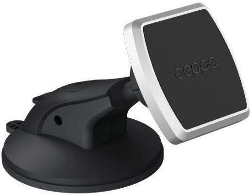 Подставка для телефона Deppa Mage One для смартфонов, магнитный, крепление на приборную панель и лобовое стекло, PU присоска, 55151 держатель телефона и планшета 120 190мм на приборную панель стекло поворотный