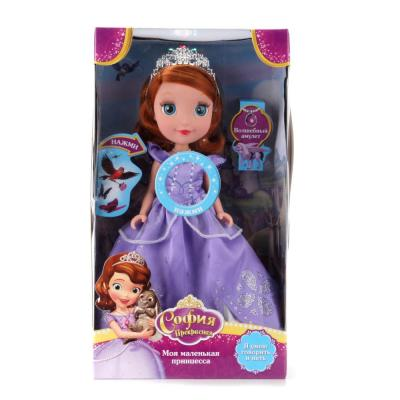 Кукла КАРАПУЗ DISNEY ПРИНЦЕССА. СОФИЯ 25 см со звуком SOFIA003 куклы и одежда для кукол карапуз кукла принцесса ариэль 25 см
