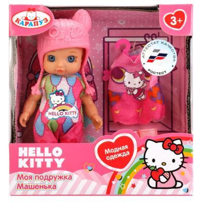 Купить Кукла Карапуз Hello Kitty 12см, без звука, с доп. одеждой и аксесс., в ассорт. в кор. в кор.60шт YL1701A-RU-HK, КАРАПУЗ, 12 см, пластик, текстиль, Куклы Карапуз
