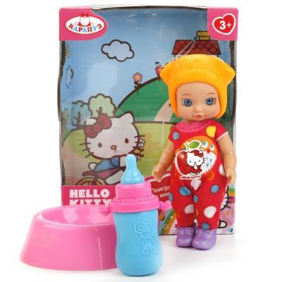 Купить Кукла КАРАПУЗ Hello Kitty с горшком 12 см YL1701I-RU-HK (60), пластик, текстиль, Куклы Карапуз