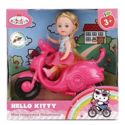 Кукла КАРАПУЗ МАШЕНЬКА НА СКУТЕРЕ 12 см MARY0116-BB-HK карапуз мини кукла машенька брюнетка