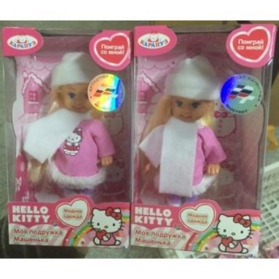 Купить Кукла КАРАПУЗ HELLO KITTY. МАШЕНЬКА 12 см MARY012X-HK, пластик, текстиль, Куклы Карапуз