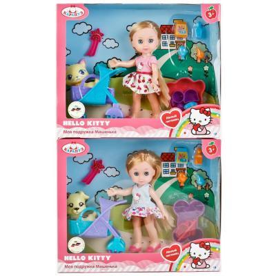 Кукла КАРАПУЗ HELLO KITTY. МАШЕНЬКА 15 см MARY63002-HK карапуз мини кукла машенька брюнетка