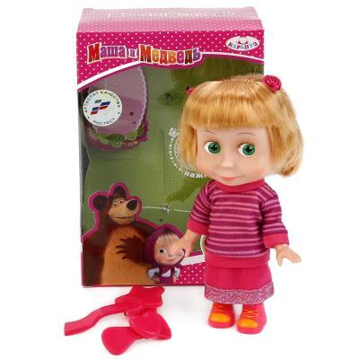 Кукла КАРАПУЗ МАША И МЕДВЕДЬ. МАША В СВИТЕРЕ 15 см со звуком 83030SW (30) кукла маша в красном сарафане маша и медведь