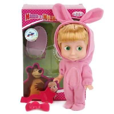 Кукла КАРАПУЗ МАША И МЕДВЕДЬ. МАША В КОСТЮМЕ ЗАЙЦА 15 см со звуком 83030EAS (30) кукла маша в красном сарафане маша и медведь
