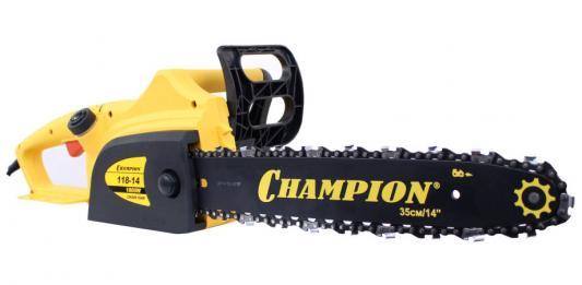 Пила цепная CHAMPION 118 1800Вт шина 14 цепь 3/8-1.3мм-52 набор шина 2 цепи champion 14 3 8 1 3 52 звена 140sdea041