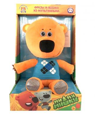 Купить Мягкая игрушка медведь МУЛЬТИ-ПУЛЬТИ Кеша искусственный мех синтепон оранжевый 25 см V62075/25X, искусственный мех, синтепон, Герои мультфильмов