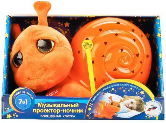 Купить МЯГКАЯ ИГРУШКА МУЛЬТИ-ПУЛЬТИ ПРОЕКТОР-НОЧНИК УЛИТКА, СВЕТ+ЗВУК, 7 КОЛЫБЕЛЬНЫХ В КОР. в кор.6шт, Интерактивные мягкие игрушки