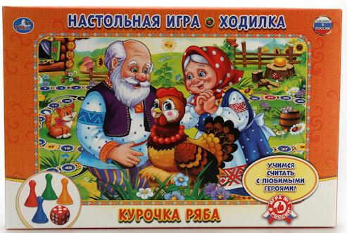 Настольная игра УМКА ходилка Курочка Ряба цена