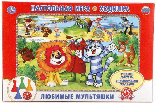 Купить Настольная игра УМКА ходилка Любимые мультяшки, 3 х 21 х 33 см., Настольные игры бродилки