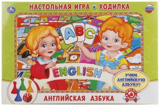 Настольная игра УМКА ходилка Английская азбука аксессуары для детской комнаты алфея ростомер азбука английская