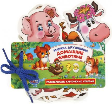 Купить РАЗВИВАЮЩИЕ КАРТОЧКИ НА ШНУРКЕ УМКА ДОМАШНИЕ ЖИВОТНЫЕ. М.ДРУЖИНИНА в кор.60шт, Умка, Книги для малышей
