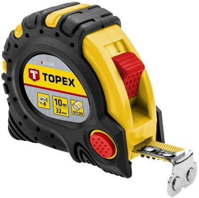 Рулетка TOPEX 27C340 10мx32мм рулетка topex 27c310 10мx25мм