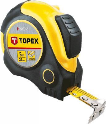 Рулетка TOPEX 27C365 5мx25мм клещи topex 16b440