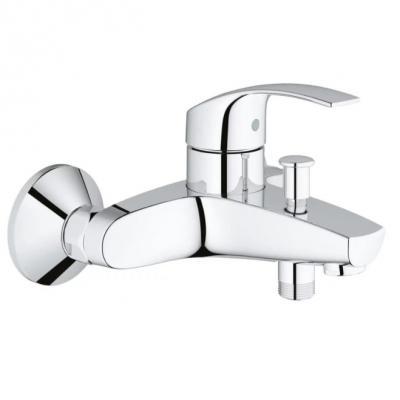 Смеситель для ванны GROHE EUROSMART NEW 33300002 хром однорычажный смеситель для ванны grohe eurosmart new с душевым набором настенный держатель ручной душ хром