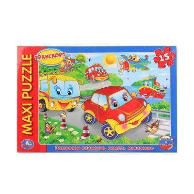 Купить Пазл 15 элементов УМКА МАШИНКИ 4690590112816, Пазлы для малышей