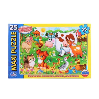 Купить Пазл 25 элементов УМКА ДОМАШНИЕ ЖИВОТНЫЕ 4690590114339, Пазлы для малышей