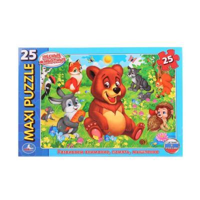 Пазл 25 элементов УМКА ЛЕСНЫЕ ЖИВОТНЫЕ 4690590114315 пазл 6 элементов best toys животные