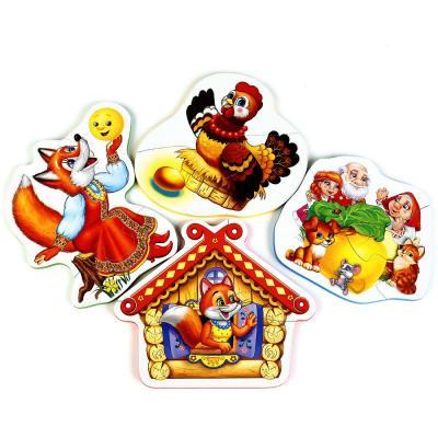 МАКСИ-ПАЗЛ УМКА ЛЮБИМЫЕ СКАЗКИ. МЯГКИЙ (ЕВА) НА БЛИСТЕРЕ (4 ДЕТАЛИ) в кор.35шт ева рейман сказочная детские сказки