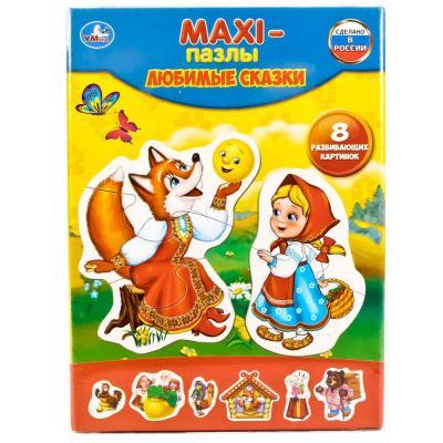 Купить Пазл УМКА ПОТЕШКИ 8 элементов 4690590124710, Пазлы для малышей