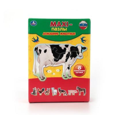 Пазл 8 элементов УМКА ДОМАШНИЕ ЖИВОТНЫЕ 4690590110089 пазл 6 элементов best toys животные