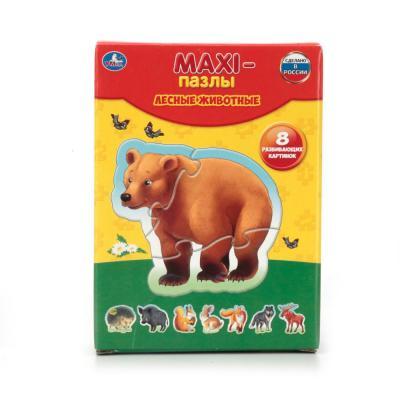 Купить Пазл 8 элементов УМКА ЛЕСНЫЕ ЖИВОТНЫЕ 4690590110072, Пазлы для малышей